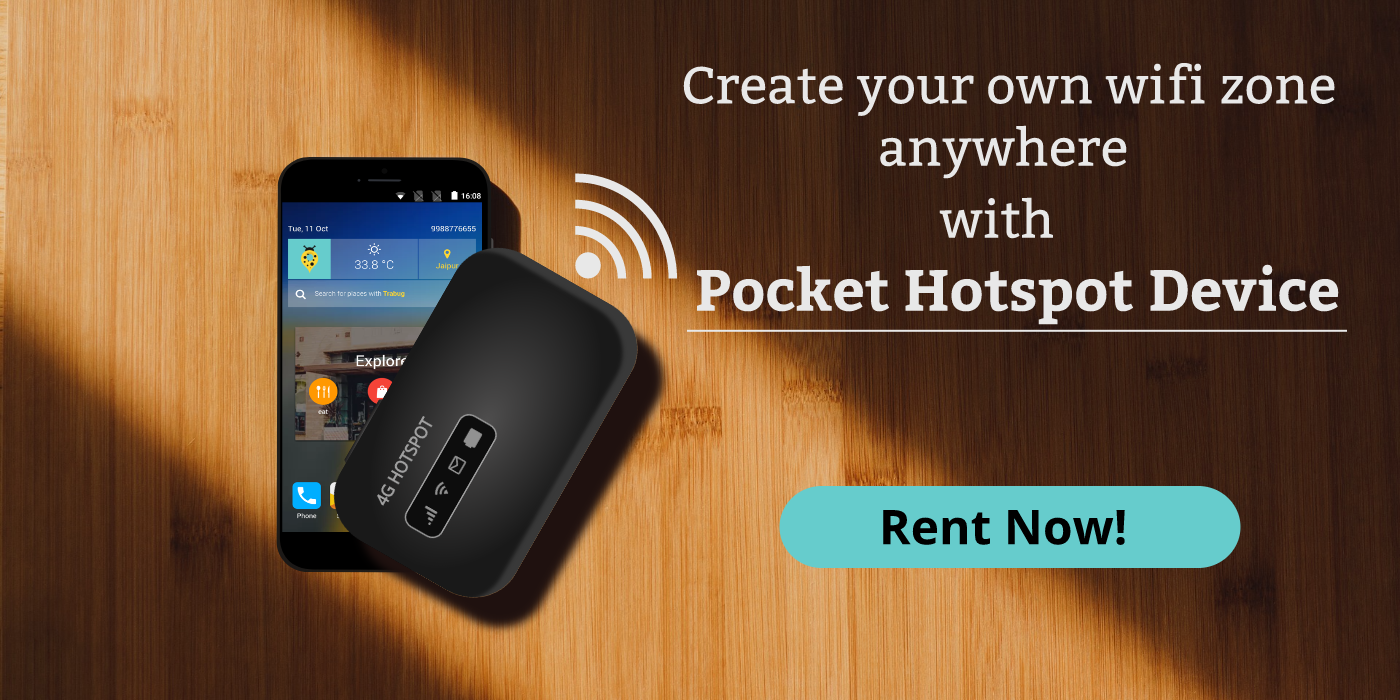 Rent portable wifi device for traveling in india, 4g router of indian tourists, travel tips and resources